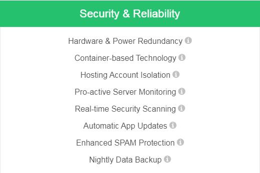 GreenGeeks security